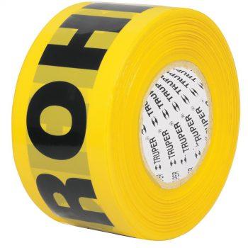 "Cinta amaril c/leyendaPROHIBIDO(305 Mt)""TRUPER""BAN-PRO-1000"