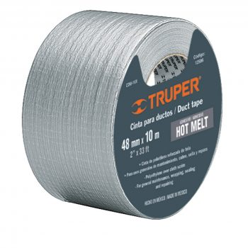 "Cinta gris ""DUCK TAPE""(resiste 60°C)50.8x30mt""TRUPER""CDU-30X"