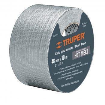 "Cinta gris ""DUCK TAPE""(resiste 60°C)50.8x50mt""TRUPER""CDU-50X"