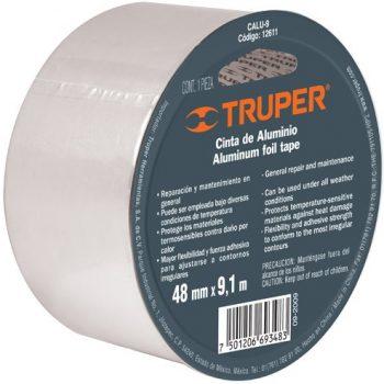 "Cinta de aluminio (resiste 40°C)48mmx9,1mt""TRUPER""CALU-9"