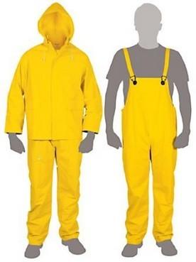 Equip. Lluvia talle S, color amarillo TRUPER