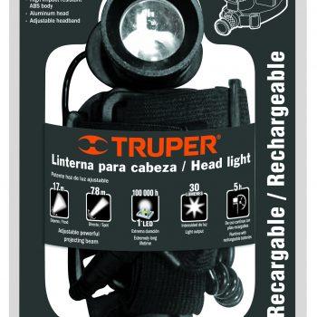 Linterna.front.p/min.inc.3pAAA rec.1Led,(30Lúm) TRUPER
