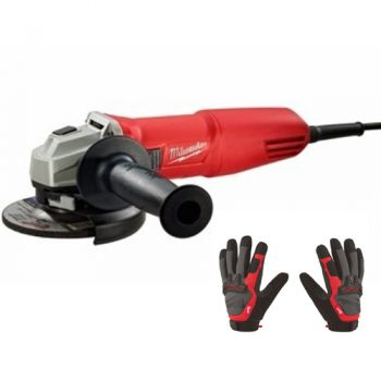 Amoladora 4.1/2″ Quick (115mm) 750w Milwaukee +Guantes